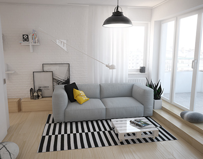 Scandinavian flat in Warsaw