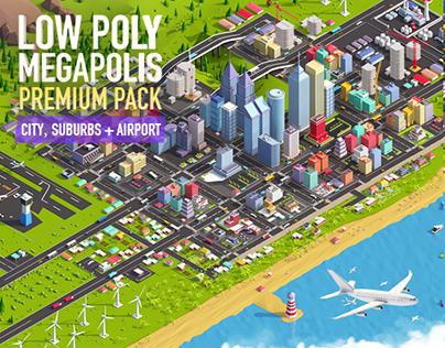 Low Poly Megapolis Premium Pack