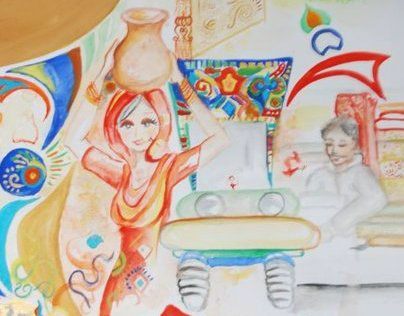 Wall Mural concept for Buksh Foundation