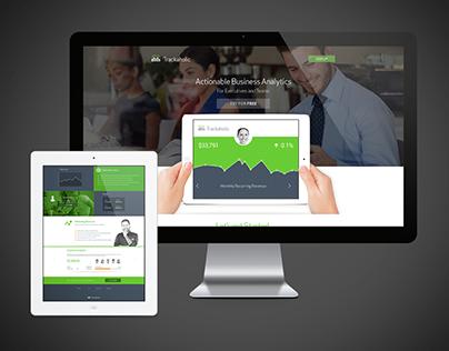 Trackaholic Finance Web UX / UI