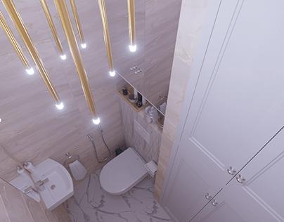 Tiny yet convenient bathroom
