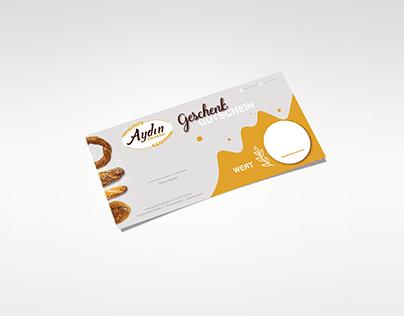 Bakery voucher card