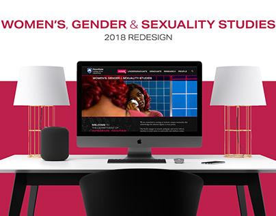 Women's, Gender & Sexuality Studies Website Design