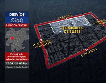 Infografía Desvíos - Departamento Prensa CHV