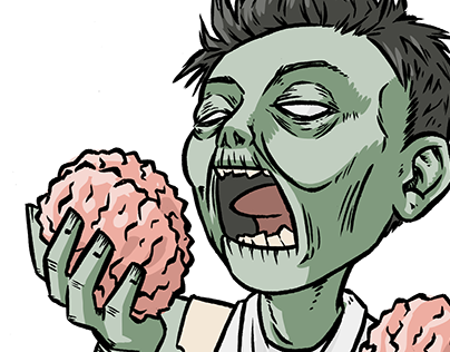 Zom-nom-nombie Independant Illustration