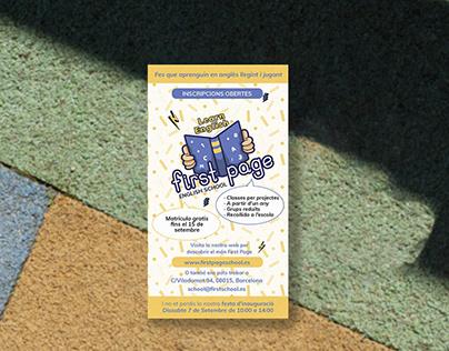 Papelería y Publicidad para FirstPage School