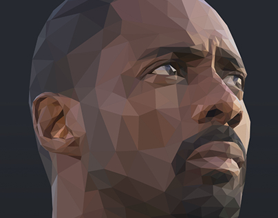 Idris Elba Low-Poly