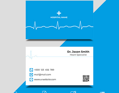 Doctor's Business Card Design Template