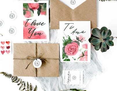 postcards for the flower shop