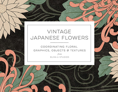 Vintage Japanese Flowers By:Blixa 6 Studios