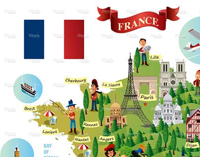 Map Of France Cartoon.Servet Gurbuz On Behance