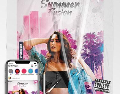 Summer Fusion Event – Flyer & Insta Post (PSD)