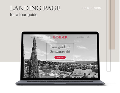 LANDING PAGE FOR A TOUR GUIDE