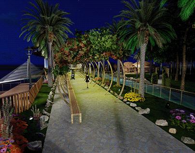 park on the beach of Greece