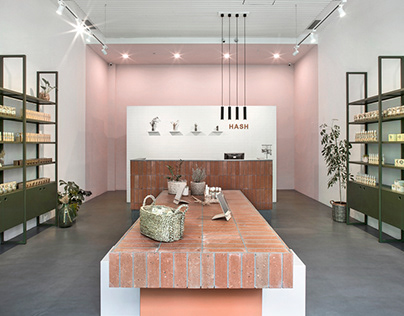 HASH skincare shop | Interior Design by BARDI