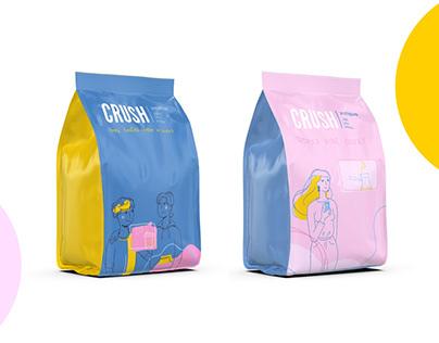 Crush coffee shop | Logo and visual identity