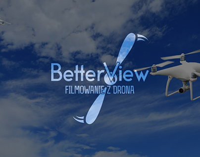 Logo design for cameraman by drone - BetterView