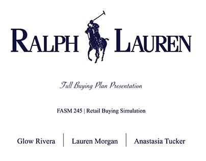RL   Women's Polo Sportswear Fall 2017 Buying Plan