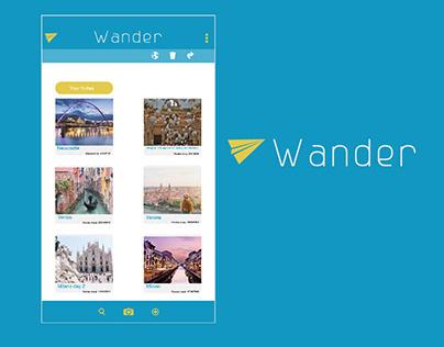 UX for Wander App - Prototype Concept