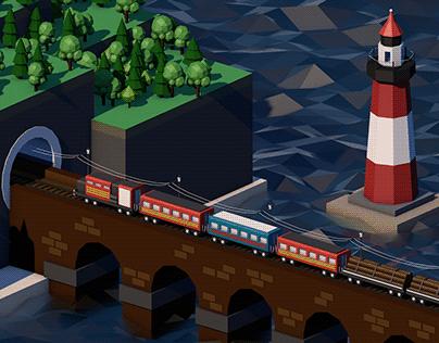 3D Графика. Поезд
