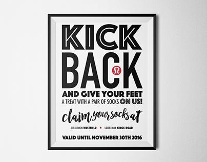 Lululemon - Poster / Flyer ; Product promotion