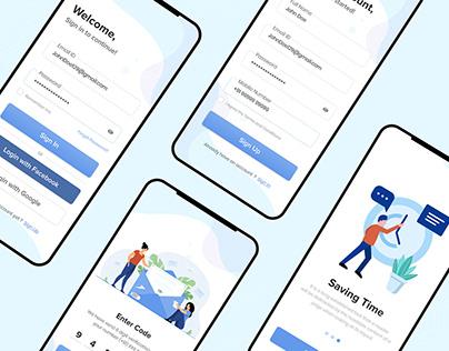 Register & Login App Mockup