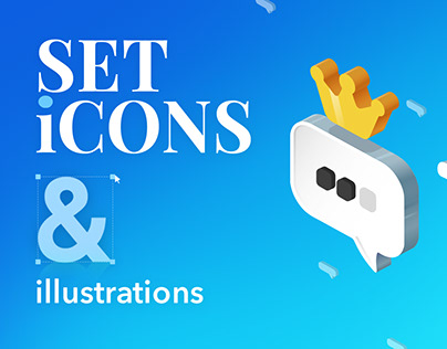 Set icons and illustrations