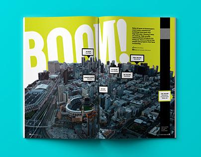 Boom Feature Design for Hatch Magazine