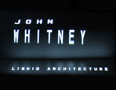 Title Sequence: John Whitney Tribute