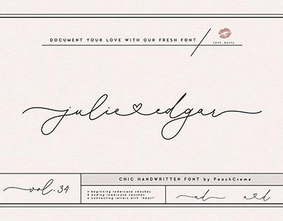 julie edgar - lovely handwritten font