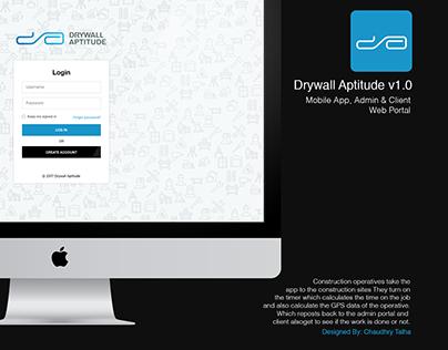 Drywall Aptitude Admin & Client Portal UI Design