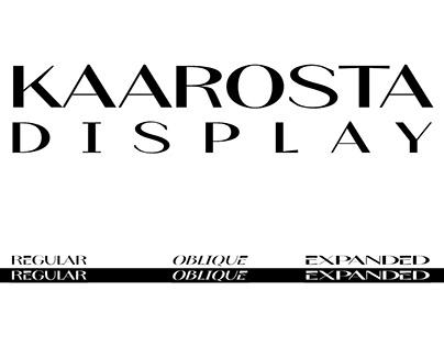 Kaarosta Display Font