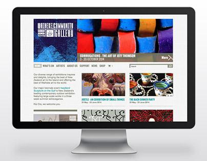 Waiheke Community Art Gallery - Website design