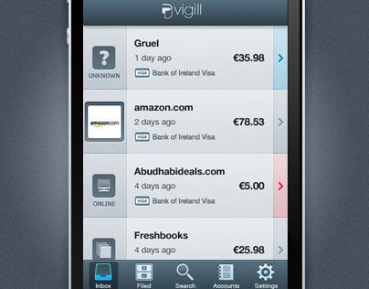 Vigill Mobile App and Icon Design