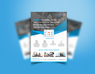 A4 corporate or business flyer