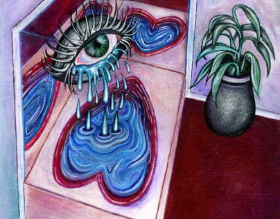 Heartbreak in the Honeymoon Suite - Acrylic Painting