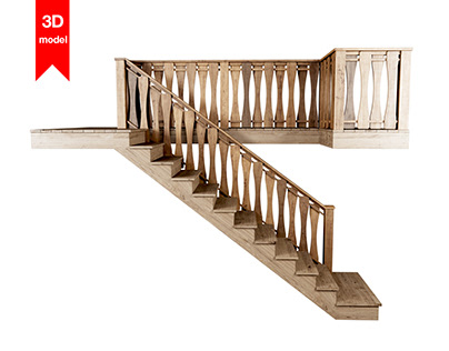 Wooden stair F021