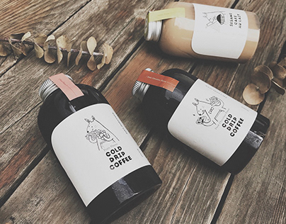 Kangaroo Café - Package Design|袋鼠咖啡 - 外帶瓶包裝&插畫設計