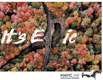 Drone Advertisement Print Ad Aerial Photo Mavic Air