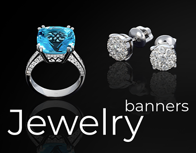 Jewelry banners design