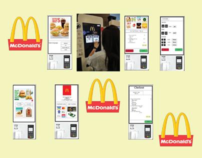 Mcdonald's Self Ordering Kiosk Interface