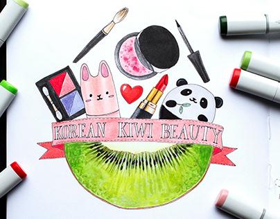 Illustrations for the company Korean Kiwi Beauty