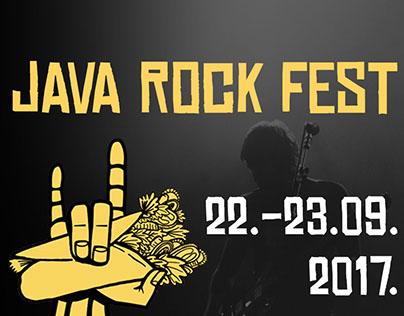 Java rock fest poster and social media visuals design