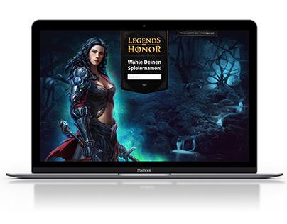 Goodgame Studios - Legends of Honor  - Landingpages