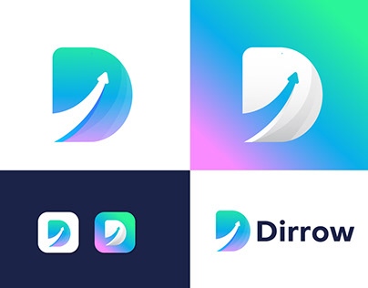 Modern (D) logo design for Dirrow