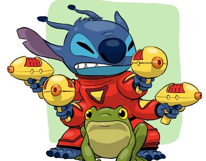 Fresco: Stitch and Frog