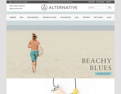 UI/UX Analysis + Comps of Alternative Clothing Co.