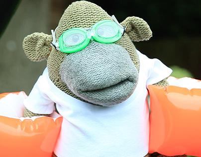 Monkey's Ice Bucket Challenge - PG Tips
