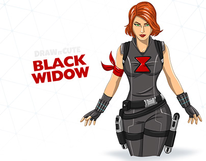How to draw Black Widow | Step-by-step guide