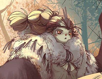Illustration- owl goddess